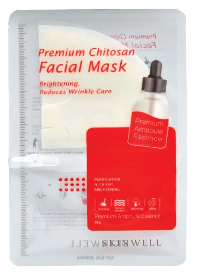 Хитозановая маска Skinwell Premium Chitosan Facial Mask